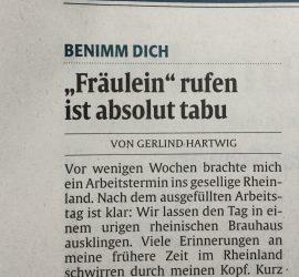 """Erschienen in der """"Rheinpfalz Zeitung""""  am 23.05.2016"""