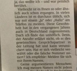 Erschienen in der Rheinpfalz Zeitung am 10. Oktober 2016
