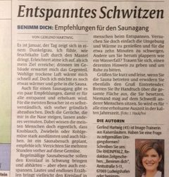 Saunaknigge Gerlind Hartwig